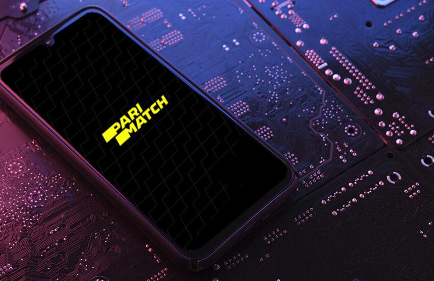 Mobile app Parimatch.